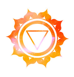Manipura chakra with outer space vector
