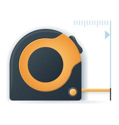 measuring tape icon measure design over white vector image
