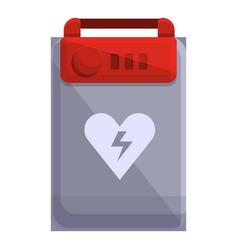 Medical defibrillator icon cartoon style vector