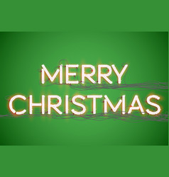 merry christmas font collection vector image
