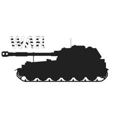 Military tank war kill vector
