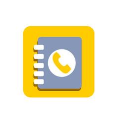 Mobile phone book icon vector