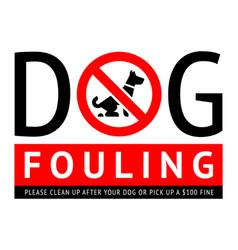 No dog fouling sign modern label for city design vector