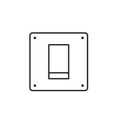 off on switch outline icon signs and symbols can vector image
