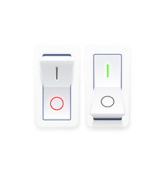 on off switch button ui isolated vector image