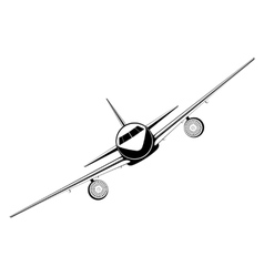 outline jet passenger aircraft vector image