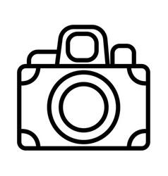 photo camera device icon thick line vector image