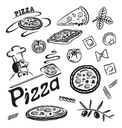 Pizza pasta vector