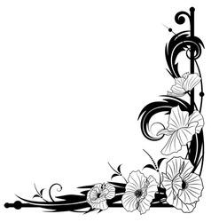 Poppy frame vector