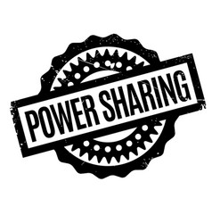 Power sharing rubber stamp vector