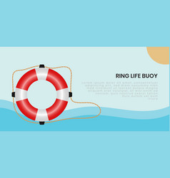 Ring life buoy background vector