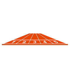 Running track start position in orange design vector