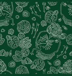 Seamless pattern of life in the swamp vector