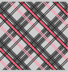 seamless pattern tartan cloth checkered pattern vector image