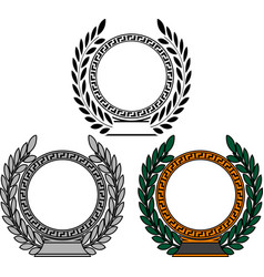 Set of frames with laurel wreaths vector