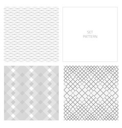 set-pattern-square-four vector image