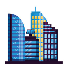 skyscrapers city urban buildings exterior vector image