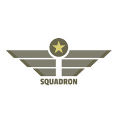squadron icon logo flat style vector image