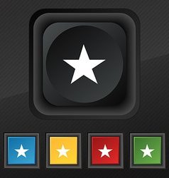 Star Favorite icon symbol Set of five colorful vector image