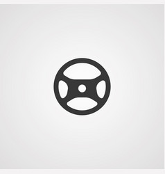 steering wheel icon sign symbol vector image