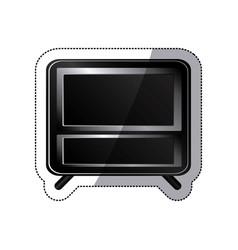 Sticker black box empty screen alarm clock vector
