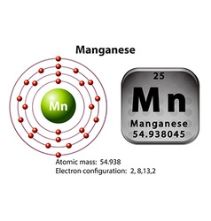 Symbol and electron diagram Manganese vector