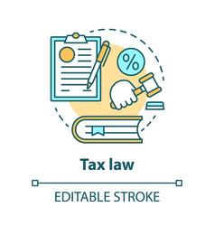 Tax law concept icon revenue rule idea thin line vector