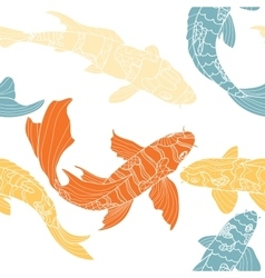The pattern of koi vector