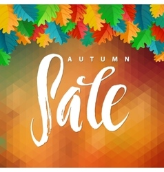 Triangle Autumn Sale Autumn Oak vector