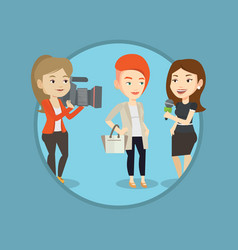 tv interview vector image