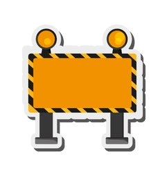 Under construction road sign icon vector