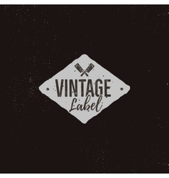 Vintage handcrafted label design Letterpress vector