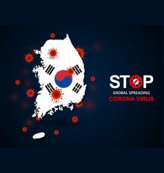 virus around south korea vector image