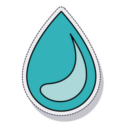 water drop ecology isolated icon vector image