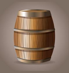 Wooden barrel wine drink vector