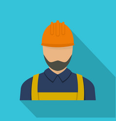 Worker icon flat style vector