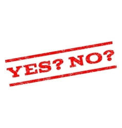 Yes Question No Question Watermark Stamp vector
