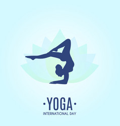 yoga colorful fitness concept vector image