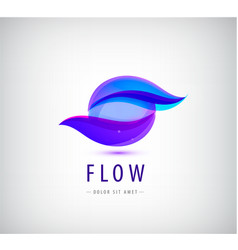 Abstract sphere flow waves logo vector