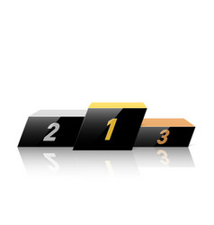 black podium for winners in dynamic style vector image vector image