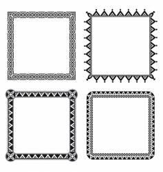geometric ornamental frames vector image