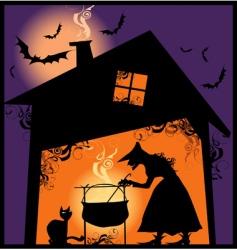 halloween supper vector image vector image