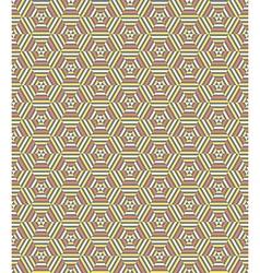 Hexagonal geometrical seamless pattern vector image