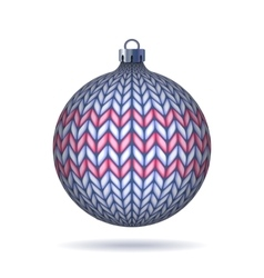 Light blue Knitted Christmas Ball vector image