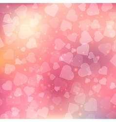 Abstract bokeh heart background vector image vector image
