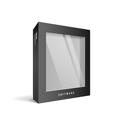 Black box software package vector image
