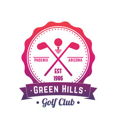 golf club logo emblem badge over white vector image vector image