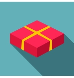 Red box icon flat style vector image vector image