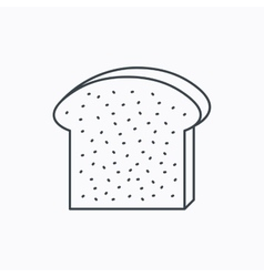 Toast icon Sliced bread sign vector image vector image