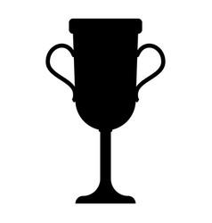 Trophy cup the black color icon vector